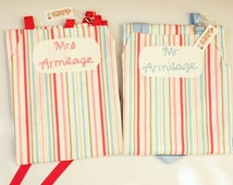 Personalized Aprons, Mr & Mrs Gift, Wedding Aprons, Bridal Shower Gift, Mr Mrs Aprons, Apron Set Husband and Wife