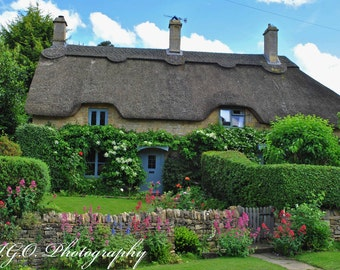 Landscape and Architecture Photography -Cotswolds Thatched Cottages 3 - England - Fine Art Photography - Wall Art - Travel Photography