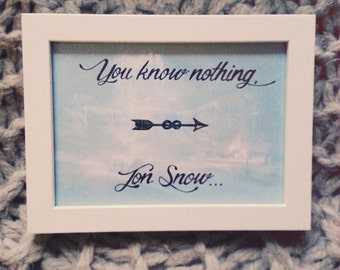 Game of Thrones Calligraphy Frame - handwritten and personalized!