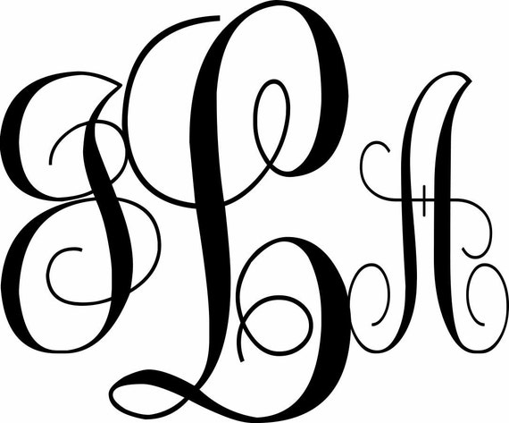 script 3 letter monogram vinyl decalcan39t find by With where can i buy vinyl monogram letters