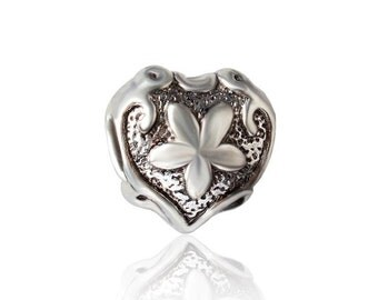 20pcs Heart European beads, Bead Charms, fits most European charm bracelets bead charm bracelet