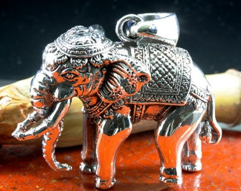 Elephant pendant, necklace, 925 sterling silver