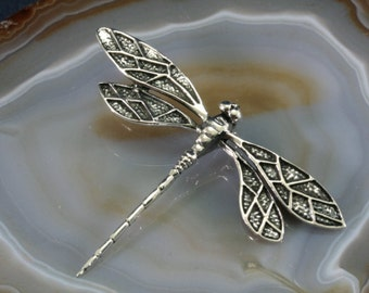 Dragonfly silver pendant  --  2333