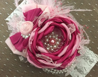 Hot Pink Couture Headband