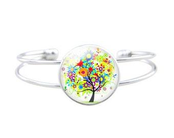 Tree of life bracelet - Nature bracelet - Multicolour tree bracelet handmade in France by Milacrea