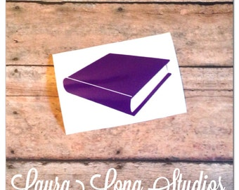 Book Reader Author Decal- Available other colors and with and without monogram