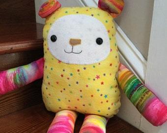 Handmade whimsical stuffed animal