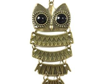 Bronze Vintage Style Owl Necklace