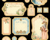 Graphic 45 Gilded Lily Journaling Chipboard 1, SC007516