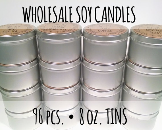 wholesale soy candles 96 pieces 8 oz soy candle tins highly scented soy candles. Black Bedroom Furniture Sets. Home Design Ideas