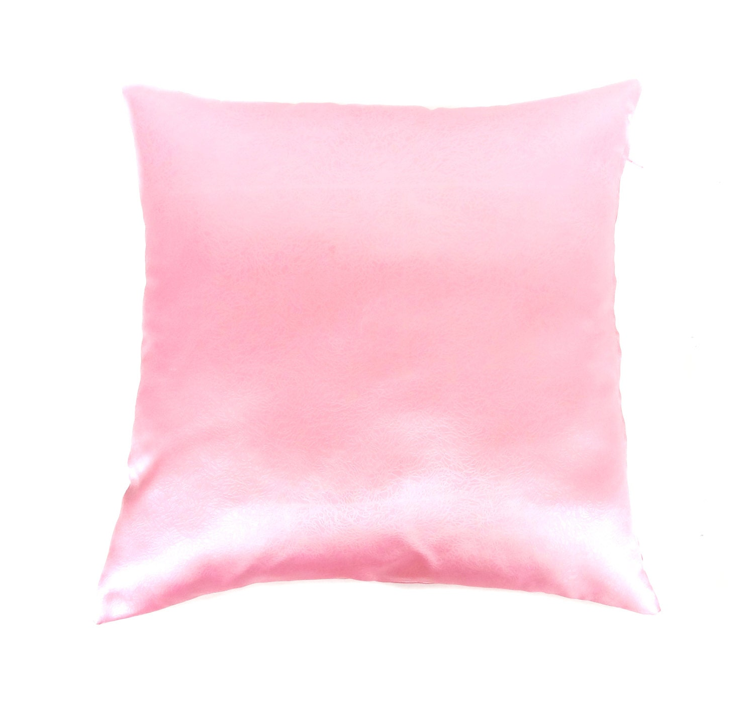 Pink Pillow Covers Satin Throw Pillow Pillow by AnnushkaHomeDecor