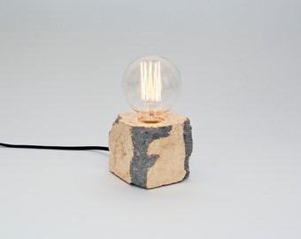 Alpha demolished gold – gilded concrete lamp