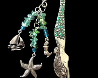 Aqua Mermaid Bookmark