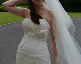 Wedding Veil in a Choice of Styles, Lengths and Edgings