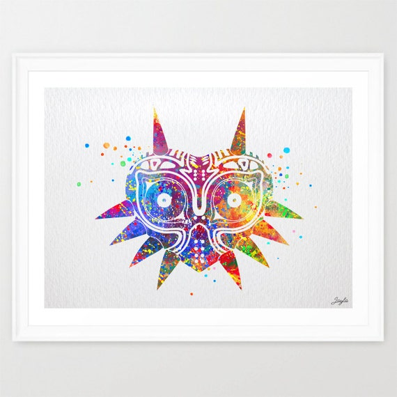 Majora's Mask Inspired Legend Of Zelda Watercolor By
