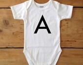 Monogram baby bodysuit - unisex