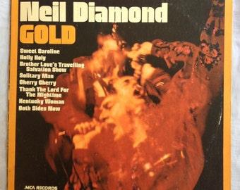 Neil Diamond Gold recorded live at Troubador vintage vinyl record 1970