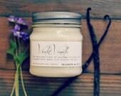 Violet Vanilla Mason Jar Soy Candle