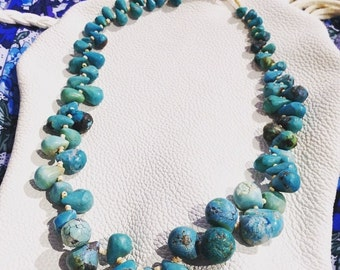 Handmade Turquoise Tear Drop Necklace