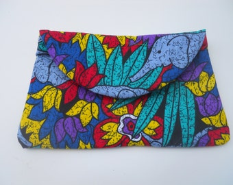 African clutch/Evening clutch/Colours of Africa/Wristlet