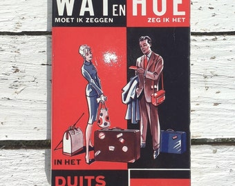 What and how German dictionary */Vintage/paperback/Nederlandsche Travel Association the Hague Cosmos/German Language/Translations/