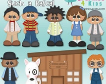 Retro Tv Series Such a Rascal The Little Rascals Digital Clip art for scrapbooking, invitations - Instant Download Clipart Commercial Use
