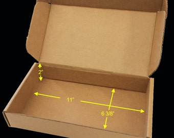 """Case of 25 Tuck Top SaverBoxes - Box perfectly fits USPS Flat Rate Envelope - Lowers shipping cost by 50% or more - 11"""" x 6 3/8"""" x 2"""""""