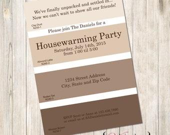 Paint Swatch Housewarming Invite, Paint Housewarming Invite, Swatch Housewarming, Paint Swatch House Warming Invite