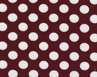 Crimson/Maroon and White Dot Fabric Finders Cotton Fabric