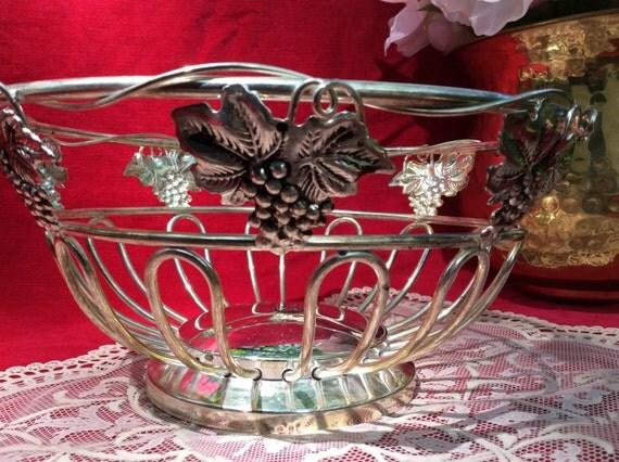 Godinger Silver Art Co Basket : Silver plated fruit bowl basket godinger art by