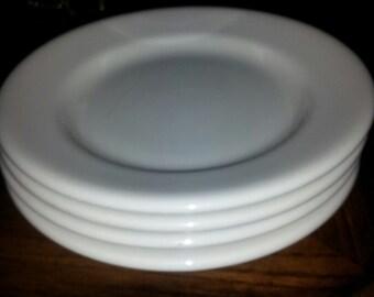 "sterling china east liverpool, ohio  (4) 6"" salad plates"
