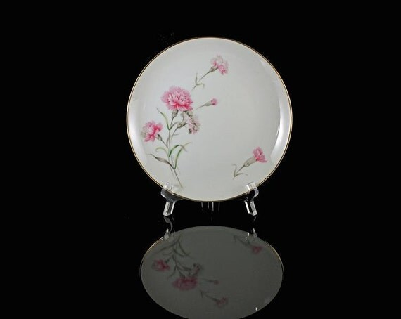 Salad Plates Royal Court China Carnation Pattern Set of 2