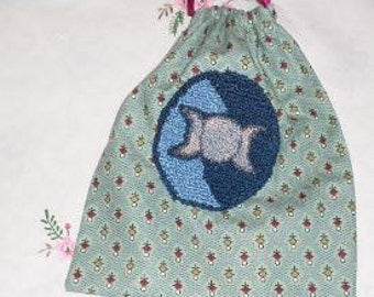 Triple Goddess Jewellery Crystals pouch Punch Needle Paper Pattern Wicca Wiccan Witch Pagan from Hunny Crafts Primitives.