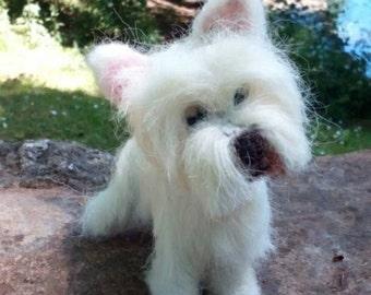 Ooak West Highland Terrier Needlefelt Sculpture