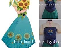 Handmade - Frozen Fever Dress Anna Dress, Frozen Fever Costume Halloween Costume