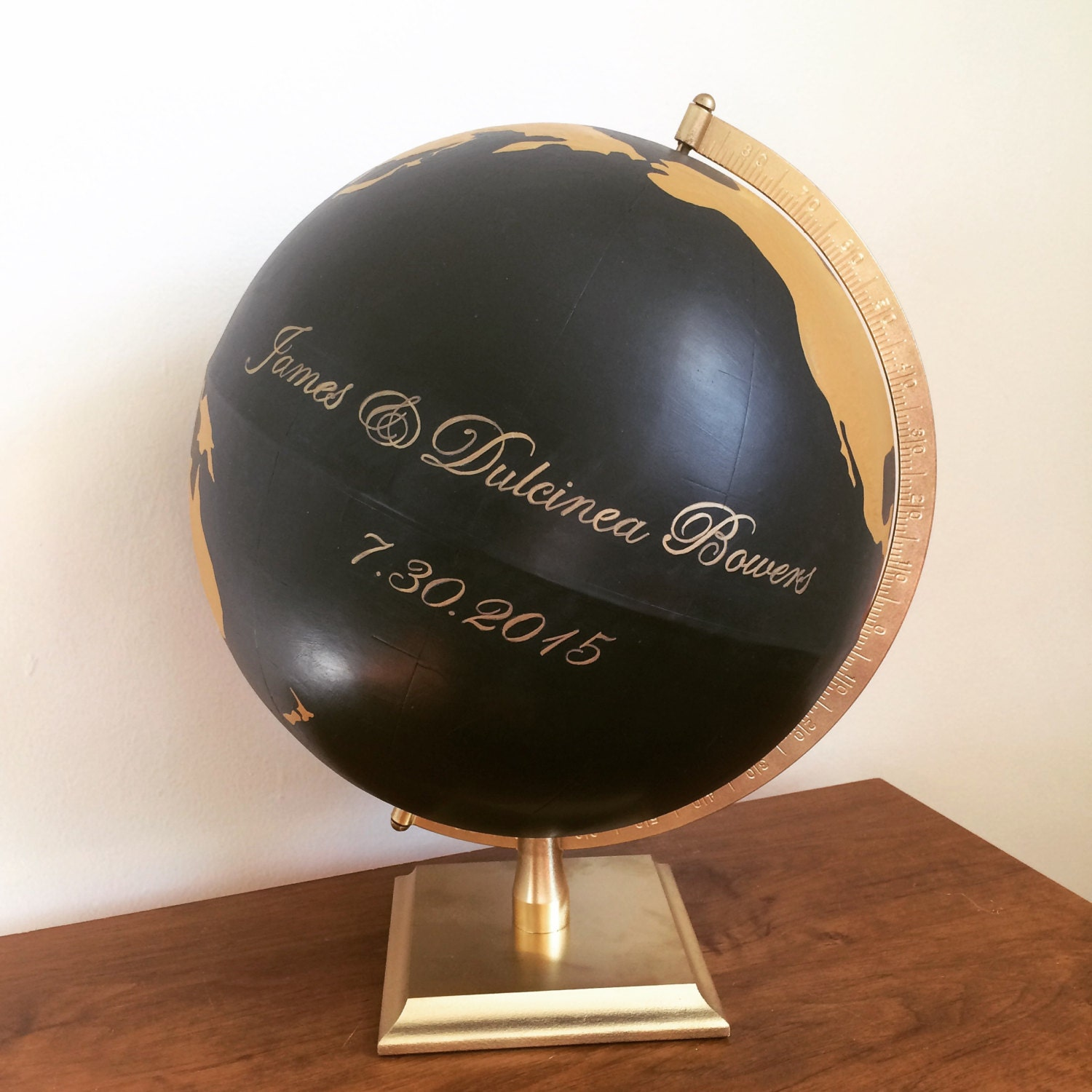 custom wedding globe guest book hand painted globe wedding. Black Bedroom Furniture Sets. Home Design Ideas