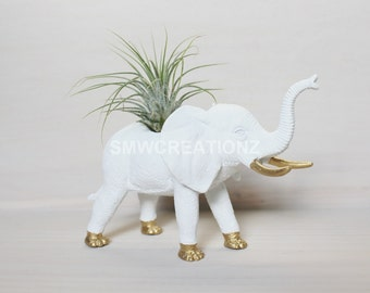 Custom Medium Size Elephant Planter with Air Plant Room Decor- Custom elephant