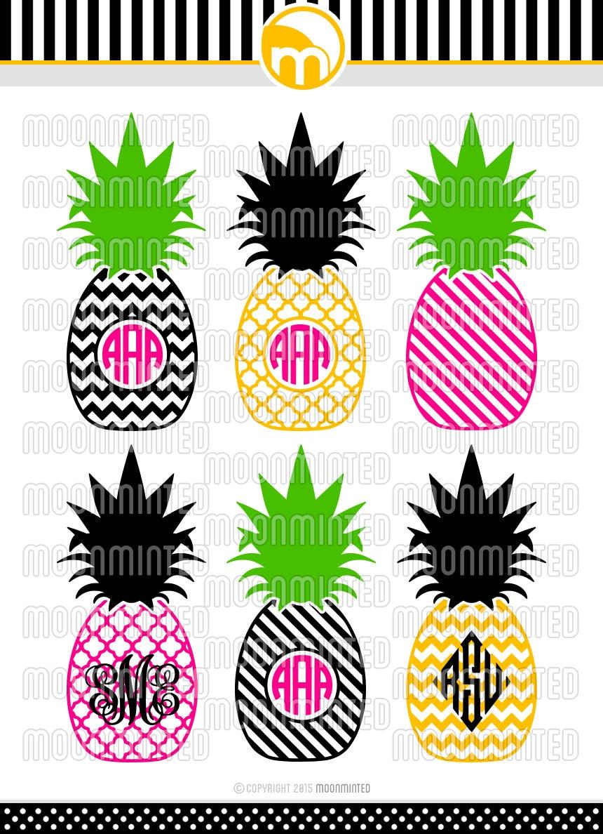 Download Pineapple Monogram Frames SVG Cut Files for Vinyl Cutters