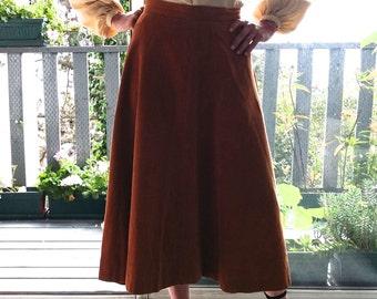 1940's corduroy skirt