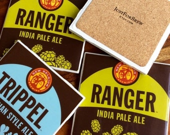 New Belgium Tripple and Ranger Beer Coasters