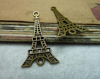 10pcs 20x36mm Antique Bronze Eiffel Tower Pendant A
