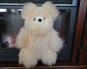 Alpaca Fur Teddy Bear- Creme