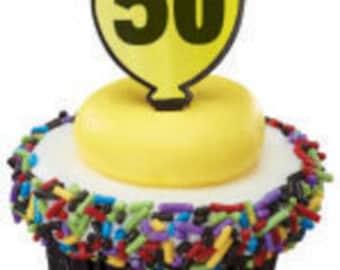 "Milestone ""50"" Cupcake Picks"