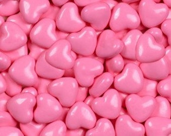 "Shimmer Pink Hearts Candy ""Cake/Cupcake/Cookie Decorations"""