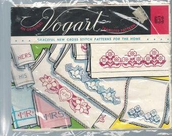 Vintage Vogart #653 Cross Stitch Patterns for the Home