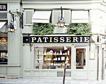 Paris Photography - Fine Art Photography - Laduree Paris - Macaroon shop photo - Wall Art Print - Patisserie Photo - Green - French Decor