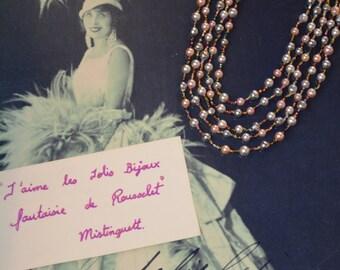 Necklace vintage pearl necklace-