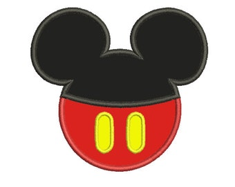 Mickey Mouse Easy Applique (3x3, 4x4, 5x7) - Embroidery Machine Design