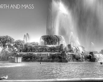 Millennium Fountain, Chicago- Black and White