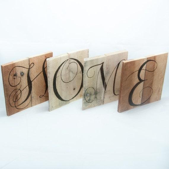 Sweet Home Word Art Wood Art Reclaimed Wood Wall Art Wedding Letters